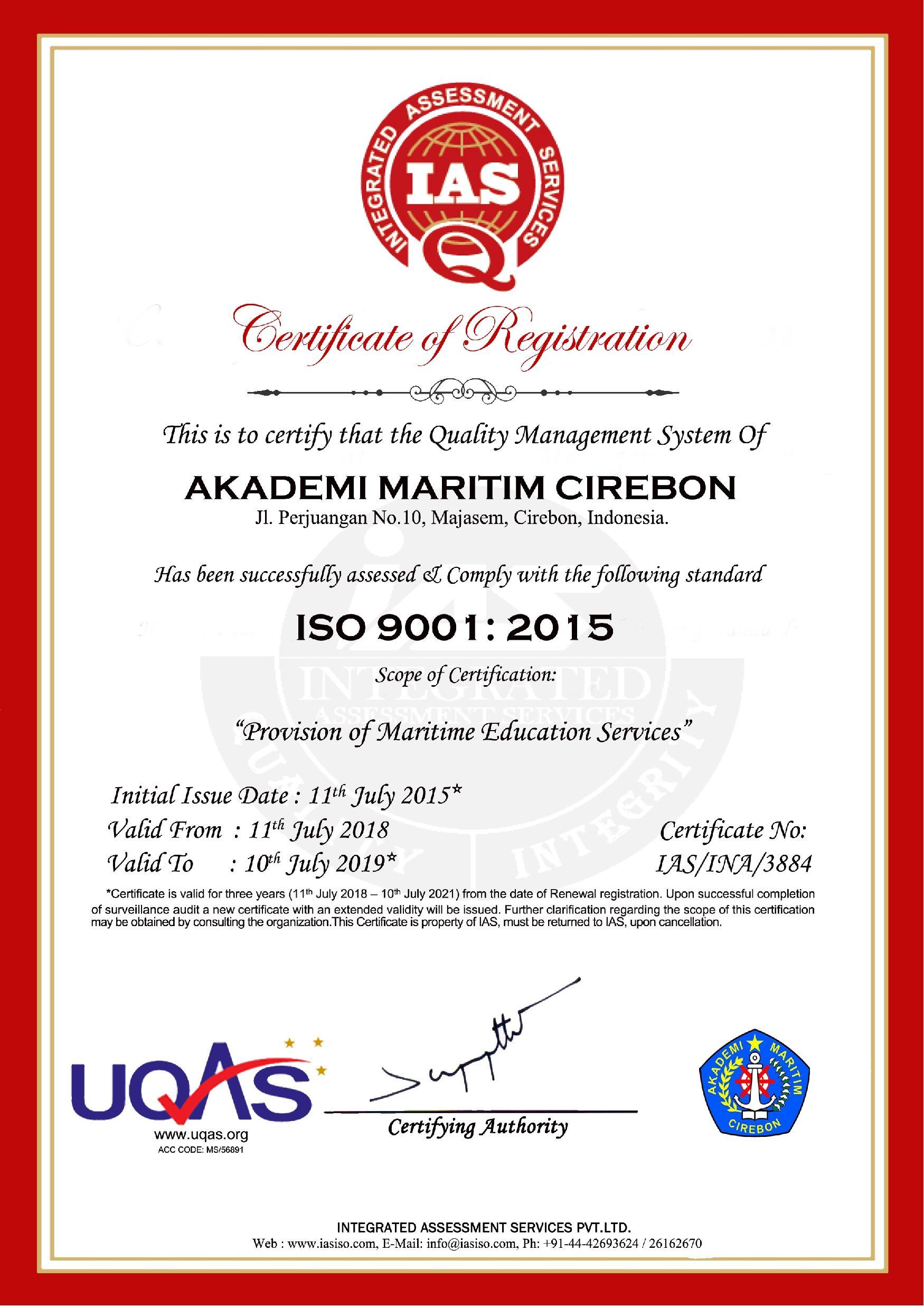 RENEWAL SERTIFIKASI ISO 9001:2008 KE ISO 9001:2015