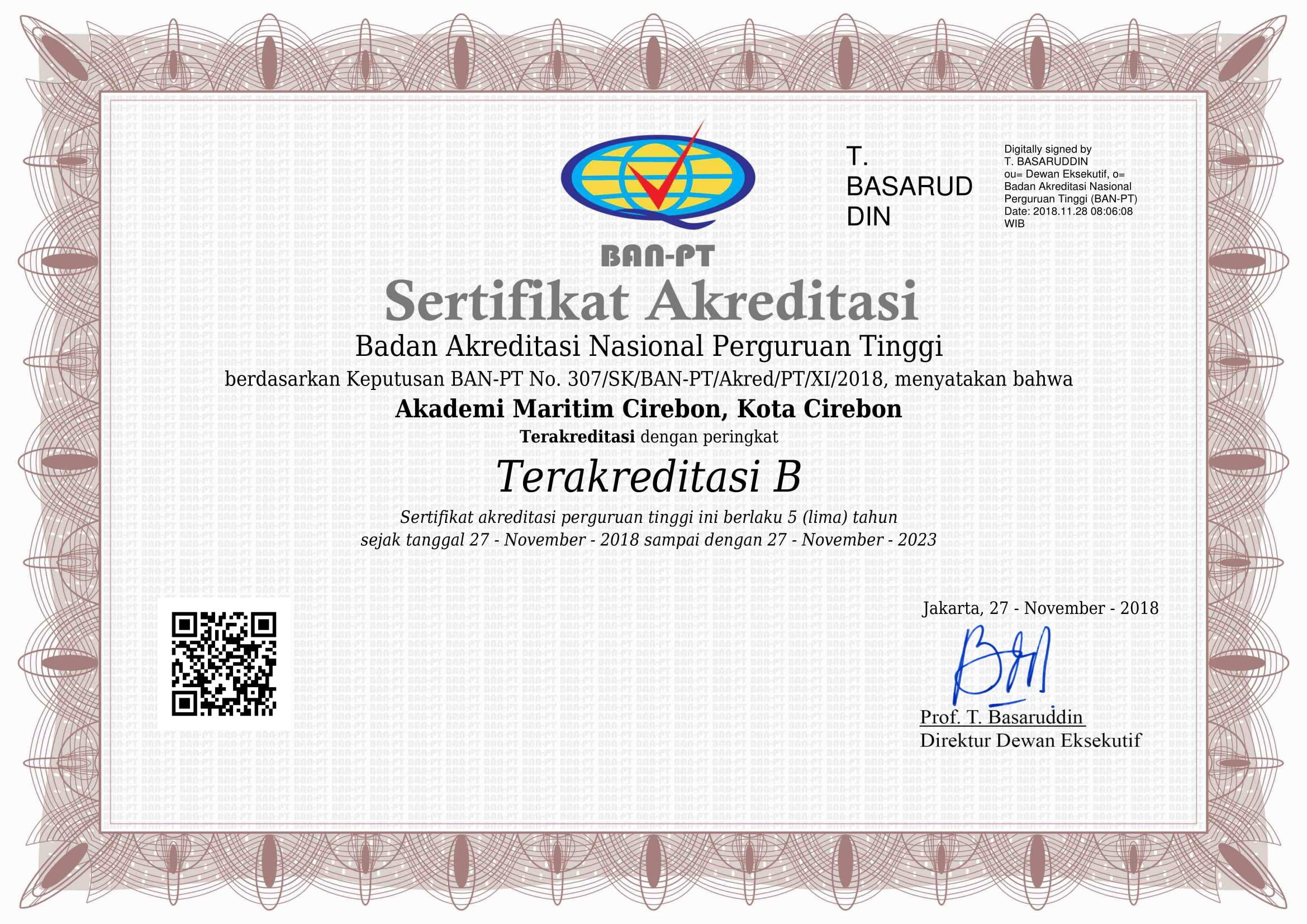 AMC Raih Akreditasi Institusi B dari BAN PT